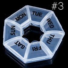 Tragbar 7 Kasten Design 7 Tage Tablette Box Pille Medizin-Halter Behälter Kasten