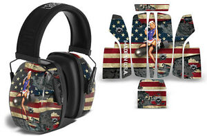 Sticker Wrap Decal  Fits: Howard Leightning L3  Ear Shooting Muffs WW2 BOMBER