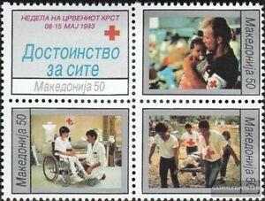 makedonien Z34-Z37 block of four Zwangszuschlagsmarken mint never hinged mnh 199