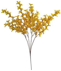 """(Pack of 12) Yellow Forsythia 19"""" Spray Filler Silk Flower General Decors Crafts"""