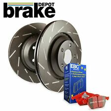 Front Rear Brake Discs and Pads for Nissan 350Z brembo - EBC USR and Redstuff