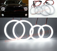 cototn LED halo rings for Mustang Shelby GT500 07-09 car fog light headlight DRL