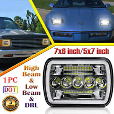 For Chevrolet S10 80-94 Corvette 7X6 5X7 LED Headlight Spot Flood Combo Halo DRL