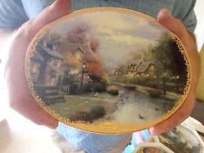 "Thomas Kinkade's ""Lamplight Brooke"" Collector's Plate; The Bradford Exchange"