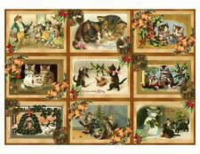 Cats At Christmas ~ Christmas Card Making Toppers / Scrapbooking - Gloss Finish