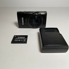 Canon PowerShot ELPH 360 HS Digital Camera (Black). With battery and charger