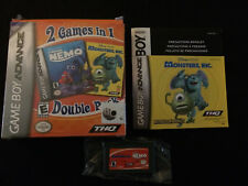 Finding Nemo & Monsters, Inc. (Nintendo Game Boy Advance) Complete In Box/CIB