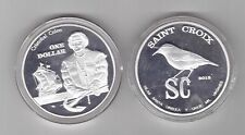 SAINT CROIX - NEW ISSUE UNC 1$ COIN 2015 YEAR SHIP CRISTOBAL COLON