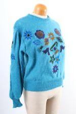 Vintage ESCADA Mohair Floral Print Sweater Women's Size 38