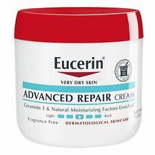 Eucerin Advanced Repair Cream  Fragrance Free Full Body Lotion  Dry Skin 16oz