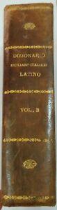 DIZIONARIO SICILIANO ITALIANO LATINO DEL P. MICHELE DEL BONO 1754 - Volume 3