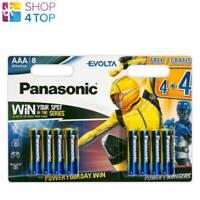 8 PANASONIC EVOLTA AAA POWER RANGERS LR03 ALKALINE BATTERIEN 1.5V 8BL NEW