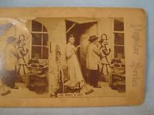 Stereoview Popular Series Oh What A Guy Boy Drawing On Wall Girl With Broom (O)