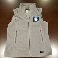 EUC Patagonia Women Size XL Gray Full Zip Synchilla Fleece Vest  *Logo*