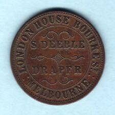 Australia Token. Deeble - 1862 1d.. Melbourne Vic..  Arms reverse.. aVF