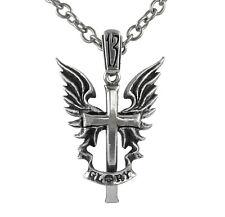 Glory Winged Cross Pendant (Rare/Retired) - Alchemy Gothic UL13 English Pewter