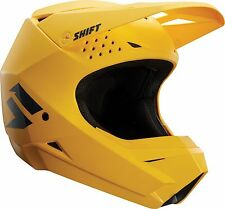 NEW 2018 SHIFT MX Motocross ATV White Label Helmet - Matte Yellow Size Small
