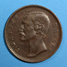 SARAWAK Copper Charles J. Brooke 1889 - H  1 Cent  XF CONDITION KM# 6