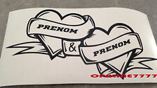 Decal Sticker Baby Heart Firstname to Choose Baby Door Room Decoration