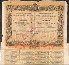DECO => CHEMINS DE FER MADRID A SARAGOSSE & ALICANTE (ESPAGNE) (U)