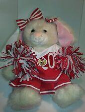 Build a Bear cheerleader outfit & plush Bunny includes flag & poms VINTAGE 1997