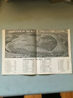 INDIANAPOLIS SPEEDWAY BROCHURE FROM 1962. WINNERS FROM I911 TO 1962.