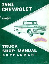 SHOP MANUAL SUPPLEMENT CHEVROLET TRUCK 1961 BOOK HAYNES CHILTON