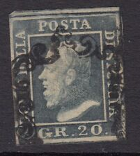 SICILY ( Italy) :1859 20g slate-grey SG 6 used