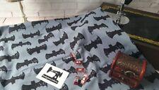50cm grey grunge bat fabric 95/5 cotton lycra 4 way stretch new batman fabric