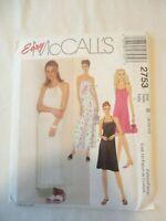 Vintage 2000 Sewing Pattern Dress w/ Handbag Size 8-10-12 Uncut