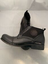 Modello Vieste - Men's Handmade Italian Black Leather Ankle Boots Size 11