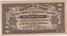 Southern Oil Stores USA America 2&1/2 coupons Dixie Vim New York advertising