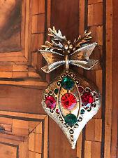 Rare! Vintage Christmas  Ball Brooch Spille Palla Di  Natale 1
