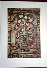 Stampa GEORGES ROUAULT Fiori decorativi Grafica Arte Edizioni Seat 1988