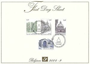 [FDS127] Belgium FDS 2004-9 Architecture First Day Sheet SUPERB