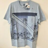 UNIQLO Hokusai Blue Katsushika Fugaku UT MEN'S Graphic T-Shirt Light Blue XS-XL