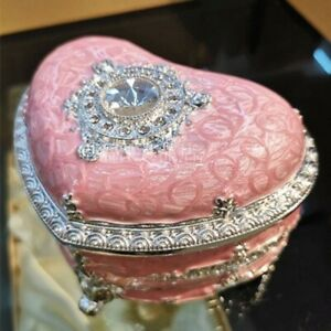 TIN ALLOY PINK HEART WIND UP MUSIC BOX  : HERE COMES THE SUN