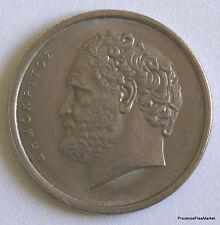 GRECE  10 drachmai  1980 nickel aca36