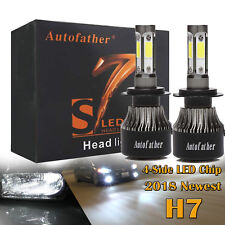 H7 4-Side LED Headlight 680W 68000LM Bulb Kit For Audi A3 A4 A5 BMW 1 3 5 Series