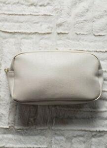 "Lancome Tan Cosmetic MakeUp Bag  9"" x 5"" x 3""  (full size) New"