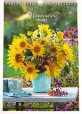 Kalender 2021 Blumen Flowers Fotokalender Wandkalender Weihnachtsgeschenk Garten