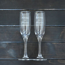 Personalized Names Toasting Glasses Set Bride Groom Champagne Wedding Party Gift