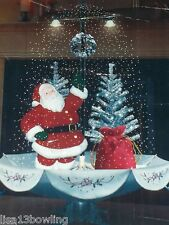 NEW Musical Animated Snowing Santa w/Silver Tree~ 4.24 CU/FT ~ Inside Decor Only