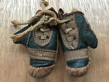 Antique Old Sports Genuine Leather Miniature Pair Boxing Gloves Salesman Sample