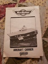 Galoob Micro Machines Aircraft Carrier  (1988) INSTRUCTIONS  ONLY FREE SHIPPING