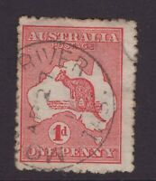 Tasmania MONTAGUE RIVER postmark on 1d Kangaroo