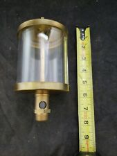 Vtg Brass Drip Oiler with Glass unknown New never used Large Steampunk (c1)