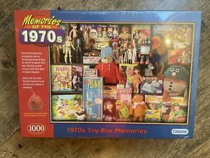 Brand New Sealed Gibsons 1970s Memories Of The Toybox 1000 Piece Jigsaw Puzzle