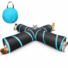 New Cat tunnel Design Collapsible 4-way Pet Toy Tunnel Toy with Crinkle US
