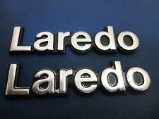 JEEP LAREDO EMBLEM 84-96 CHEROKEE COMANCHE OEM FENDER/TRUNK BADGE symbol logo